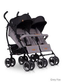 Коляска для двойни EasyGo Duo Comfort 2019 Grey Fox