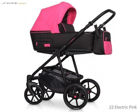 Коляска Riko Swift Neon 22 Electric Pink 3 в 1