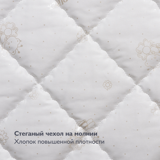 Матрас Plitex Flex Cotton Oval 125х75х10 ФК-01/4