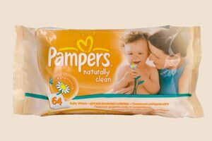 Салфетки влажные «Pampers» Naturally Clean 64шт.